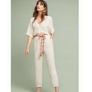 Featherbone Anthropologie Soleil Belted Jumpsuit